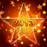Golden year 2013 in star Royalty Free Stock Photos