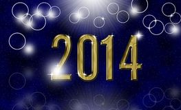 Golden year 2014. Abstract star shine universe background Royalty Free Stock Image