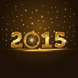 Golden 2015 year card presentation Stock Photo