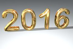 Golden year 2016. The number 2016 written with golden numbers Stock Photography