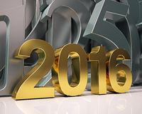 Golden year 2016 Stock Photo