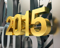 Golden year 2015 Royalty Free Stock Images