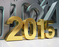 Golden year 2015 Stock Photography