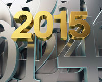 Golden year 2015 Stock Image