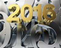 Golden year 2016 Stock Images