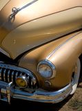 The Golden Years. Photo of a golden car from the 50's stock image