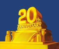 Golden 20 years anniversary Stock Photography