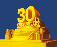 Golden 30 years anniversary Stock Images