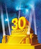 Golden 30 years anniversary Royalty Free Stock Photo
