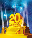 Golden 20 years anniversary Royalty Free Stock Photo