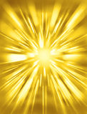Light Rays Sun Background. A yellow futuristic background with rays of bright light Stock Images