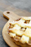 Golden yellow baked apple pie Stock Images