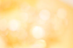 Golden Yellow Bokeh Background Stock Images