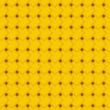 Golden yellow and brown geometric seamless pattern of rectangles and rhombuses Royalty Free Stock Photography