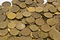 Golden yellow coins Royalty Free Stock Photography