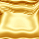 Golden-yellow drapery texture Stock Photo