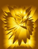Golden-Yellow Fractals Royalty Free Stock Photo