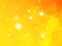 Golden yellow geometric background with lights Stock Photos