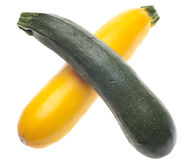 Golden Yellow and Green Zucchini Royalty Free Stock Photography