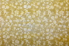 Golden yellow handmade art paper floral pattern Royalty Free Stock Images