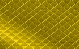 Golden yellow metallic abstract background of triangles and squares. Golden metallic abstract background of triangles. geometric gold repeating pattern with 3D Royalty Free Stock Photo