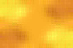 Golden yellow orange pop art background with halftone effect royalty free illustration