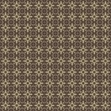 Golden yellow pattern on dark background. Graphic pattern with curls, fine lines, abstract colors in traditional tile style. Seamless pattern Royalty Free Stock Photography