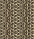 Golden yellow pattern on dark background. Graphic pattern with curls, fine lines, abstract colors in traditional tile style. Seamless pattern royalty free illustration