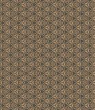 Golden yellow pattern on dark background. Graphic pattern with curls, fine lines, abstract colors in traditional tile style. Seamless pattern stock illustration