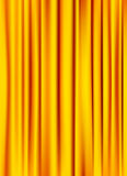 Golden yellow silky curtain background Royalty Free Stock Photo