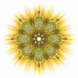 Golden Yellow Star Ornamental Tile Stock Photography