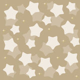 Golden yellow stars over blue background vector Royalty Free Stock Photo