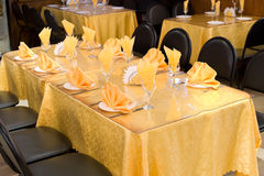 Golden yellow table Royalty Free Stock Image