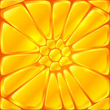 Golden yellow vector bricks seamless pattern tile Stock Image