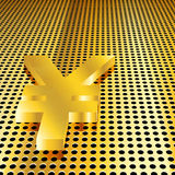 Golden Yen Background Stock Images