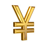 Golden Yen sign Stock Images