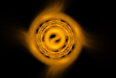 Golden Yin Yang Royalty Free Stock Images