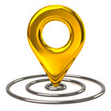 Golden you are here icon Stock Image