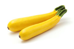 Golden zucchini. On a white background royalty free stock image