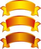 GoldenBanners illustrazione di stock
