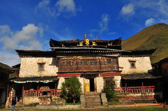 The Goldendragon Monastery. Outside view of the Major prayer hall of Goldendragon Monastery Stock Photos