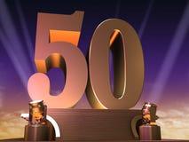 Goldene 50 Stockbild