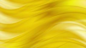 Goldene abstrakte glatte Flüssigkeit bewegt Videoanimation wellenartig stock abbildung