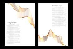 Goldene abstrakte Hintergrundschablonen Lizenzfreies Stockfoto