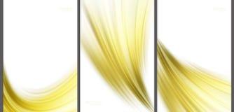 Goldene abstrakte Hintergrundspitzentechnologiesammlung Lizenzfreies Stockfoto