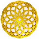 Goldene geometrische Form lizenzfreie abbildung
