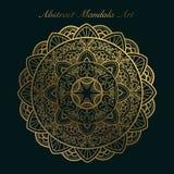 Goldene abstrakte Mandalakunst Weinlesemandalakunst lizenzfreies stockbild