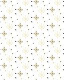 GOLDENE ABSTRAKTE SCHNEE-FLOCKE DES HANDabgehobenen betrages Weihnachtsnahtloses vektormuster vektor abbildung