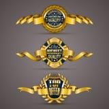 Goldene Abzeichen Stockfoto