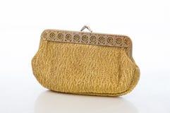 Goldene antike Geldbörse der Damen Lizenzfreie Stockfotografie